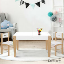 Kids Table and Chair Set Children Study Storage Activity Chalkboard Play Desk