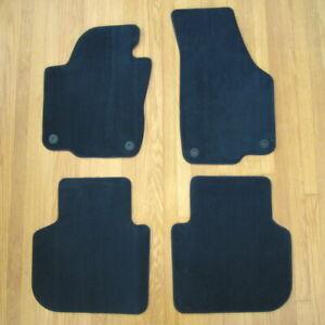 4 Piece Set Volkswagen Floor Mat Genuine 2012-2019 VW Passat OEM Titan Black