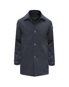 TRENCH COAT UOMO HOMEWARD CLOTHES ANFIELD BLU NAVY NUOVI ARRIVI AUTUNNO/INVERNO