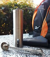 New Manual Coffee Grinder Conical Burr Mill Precision Brewing Brushed original