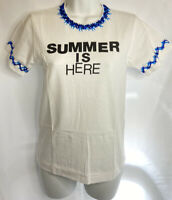 Commes De Garcons T-Shirt Size Small NWT NEW White 'Summer is Here'