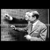 #phs.006563 Photo GEORGES SIMENON & RUPERT DAVIES (MAIGRET) 1962