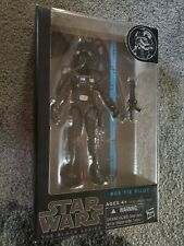 "STAR WARS THE BLACK SERIES 05 TIE FIGHTER PILOT BLUE LINE BOX 6"" NEW"