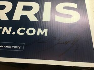 PETE BUTTIGIEG 2020 18x24 autographed Biden Harris Yard Sign comes with jsa coa