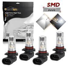 Pack 4 100W Fog Driving Light 20-Sharp-2828-SMD White LED Bulb Lamp Set 9006 HB4