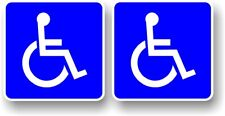 2pcs Disabled Blue Badge Disability Vinyl car Motorbike Wheelchair sticker 75mm