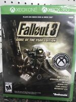 Fallout 3 Game of the Year Edition Xbox One & Xbox 360 Brand New Bethesda Video