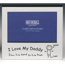 I love my daddy from his Head to his Toe silver photo frame shudehill Giftware