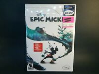 """Disney Epic Mickey """"Brand New Factory Sealed"""" Game (Nintendo Wii, 2010)"""