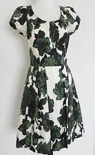 JIGSAW Silk Dress SizeS Cap Sleeve Mid-Calf Cap Sleeve Multi-color Fit-Flared