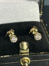 0.50ct Natural Diamond Stud 14ct Gold Earrings 1/2ct