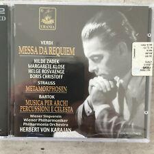 VERDI: Messa da Requiem / STRAUSS / BARTOK - Karajan (IT 2CD URN 22.151 / OVP)