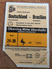 Ticket for collectors * West Germany - Brazil 1973 in Berlin