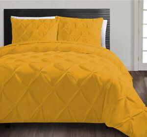 Egyptian Cotton 1000-TC 3pc  Pinch pleat Duvet Cover Set  All Sizes Colors