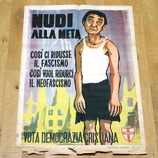 LIBERTAS poster manifesto affiche Politica Elezioni Democrazia Italiana Fascismo