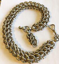 Antique Victorian Silver Link Watch Chain