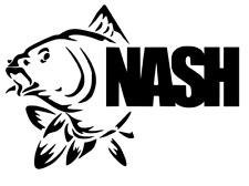 * NASH carp FISHING LOGO * van car  window vinyl Sticker Decal Angling Bait Box