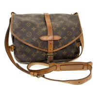 LOUIS VUITTON Monogram Saumur 30 Shoulder Bag M42256 LV Auth ar2480