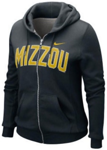 Nike Women Missouri Tigers Classic Fleece Full Zip Sweatshirt hoodie jacket S MO