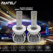 D2S D2R D2C 2450W 367500LM CSP LED Headlight KIT 6000K HID White Bulbs One Pair