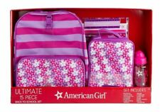 American Girl Ultimate 15pc Back To School Backpack Lunch Box Set Stars NIP