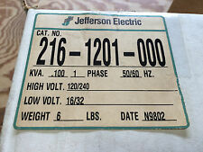 JEFFERSON BUCK BOOST 216-1201-000 100VA 120/240V:16/32V 1PH ENCL 3R NEW IN BOX!