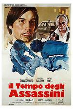 Joe Dallesandro Martin Balsam IL TEMPO DEGLI ASSASSINI manifesto 2F orig. 1975