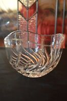 Crystal Bowl with Sun Burst Pattern 2-7/8'' Tall