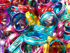 Colorful Metal Laser Cut Fashion Rings Lot of 6 Asst
