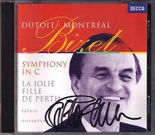 Charles DUTOIT Signiert BIZET Symphony in C Patrie Scenes bohemiennes CD 1996