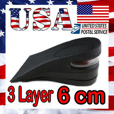 Half size 3 Layer Man 6cm (2.5 inches)  Increase Height  Insole Taller  Pad