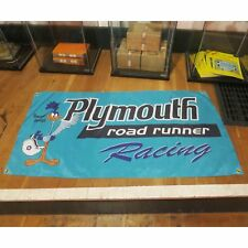 Plymouth Racing Flag Banner Sign garage mancave hotrod nascar mopar roadrunner