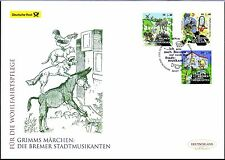 BRD 2017: Die Bremer Stadtmusikanten! Post-FDC der Nr 3282 - 3284! 1803