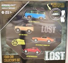 GREENLIGHT Hollywood vert MACHINE 1971 VW Type 2 perdues 4-Car COLLECTION SET