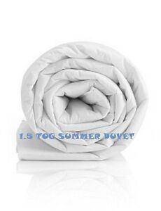 1.5 TOG SUMMER COOL Lightweight Duvets/Quilts S/D/K Sizes