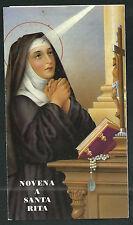 Novena a Santa Rita andachtsbild santino holy card santini