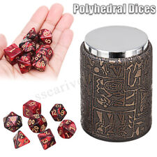 7Pcs Polyhedral Dices + Dice Cup For Dungeons and Dragons DND RPG MTG Desk Game