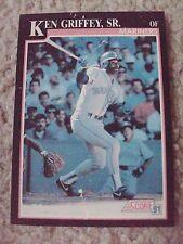Ken Griffey Sr 1991 Score RARE BLANK BACK PROOF CARD hand-cut from sheet!