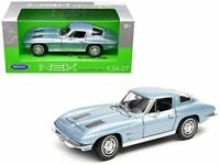 Chevrolet Corvette, Blue 1963 1/24 Welly Nex Model Car