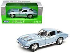 Chevrolet Corvette, Blue 1963 1/24 Welly Nex Model Car