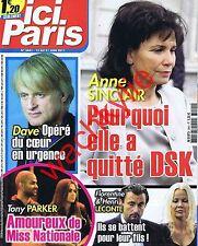 Ici Paris 3441 – 15/05/2011 Anne Sinclair Dave Tony Parker Leconte