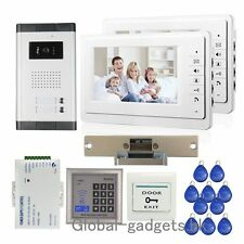 "Wired 7"" Apartment Video Door Phone Intercom System+RFID Card Access Keypad TOP"