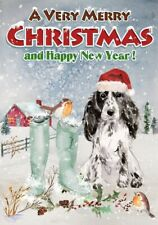 "Cocker Spaniel Dog A6 (4"" x 6"") Christmas Card - Blank inside - by Starprint"