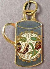 1990 Mug Decorative Arts Collection Commemorative Charm Green Blue Gold