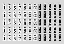 Pegatinas numeradas para las teclas blancas y negras del piano. Muy fácil