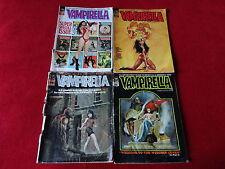 Lot of 4 Vampirella Vintage Horror Comic Magazines 6 15 19 21 Sexy Vampire Vamp