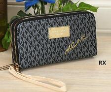 Fashion Women Clutch Wallet Long Card Holder Envelope Double zipper Purse bag