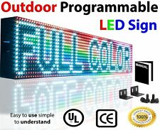 "Outdoor 6"" x 25"" Full Color 10Mm WiFi Programmable Led Sign Still Scrolling Open"