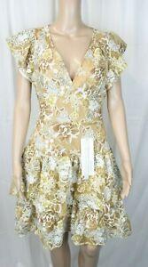 Bronx and Banco Sicilia Ruffle Mini Dress Multicolour UK Size 10 VR184 06