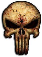 Punisher Skull Decal Sticker Cracked Blood Military Sniper USA Car Truck Jeep